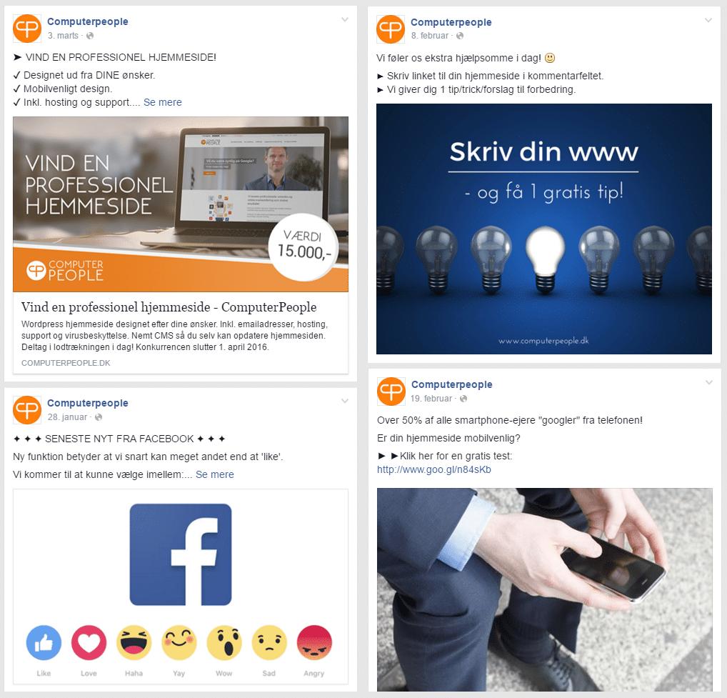 mere succes med facebook opslag